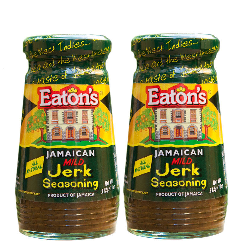 Eaton's Jamaican MILD Jerk Seasoning 11oz 2-PACK