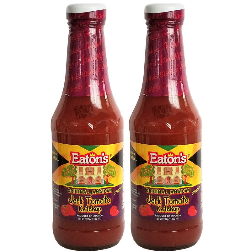 Eaton's Spicy Original Jamaican JERK Tomato Ketchup 14oz (2-Pack)