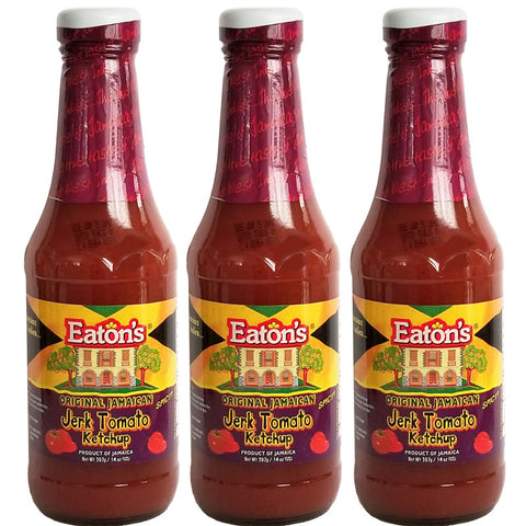 Eaton's Spicy Original Jamaican JERK Tomato Ketchup 14oz (3-Pack)