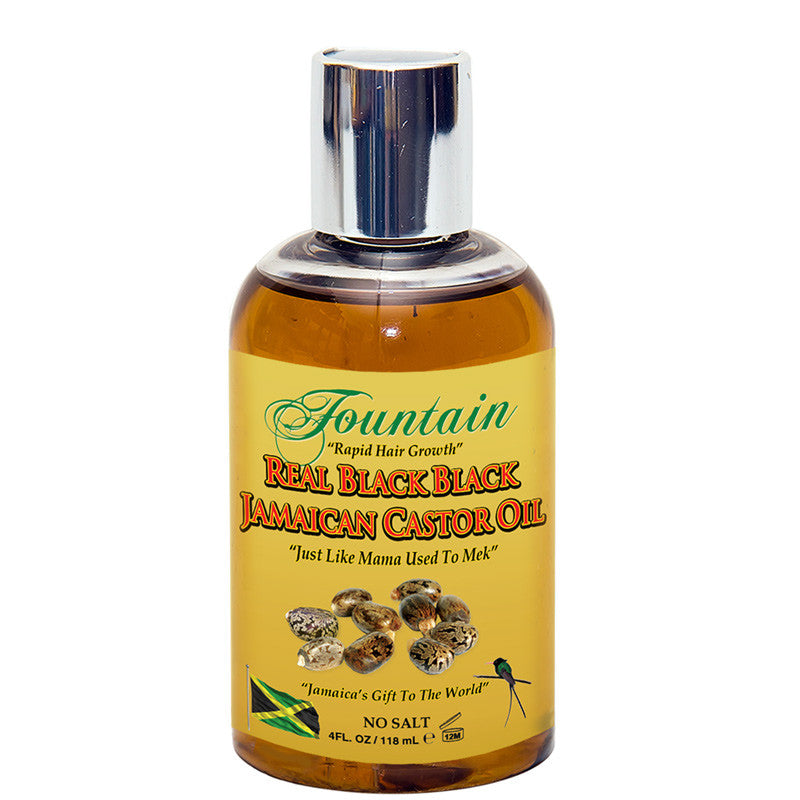 Fountain Real Black Black Jamaican Castor Oil 4oz