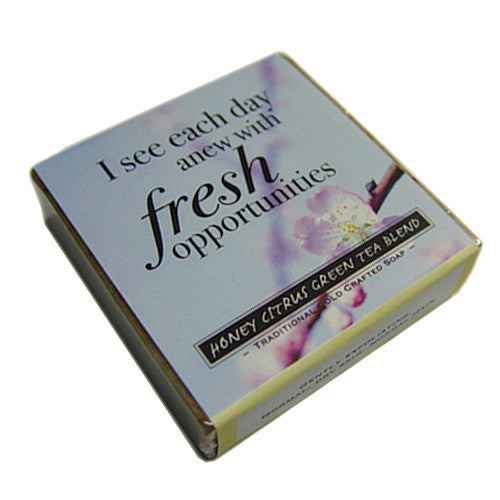 Honey Citrus Green Tea Blend Affirmation Soap