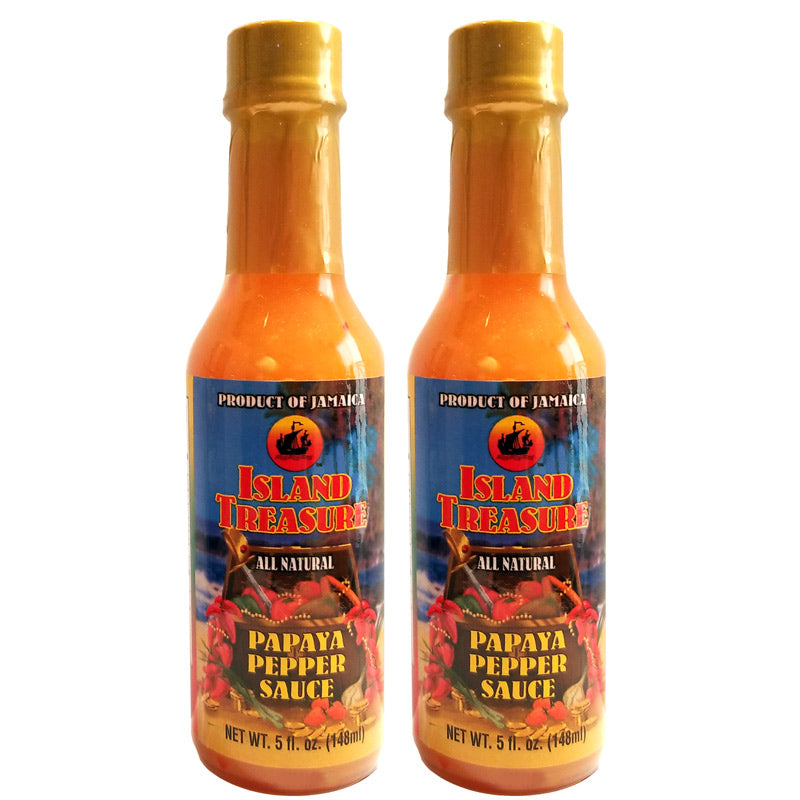 Island Treasure Papaya Pepper Sauce 5 fl oz (Pack of 2)