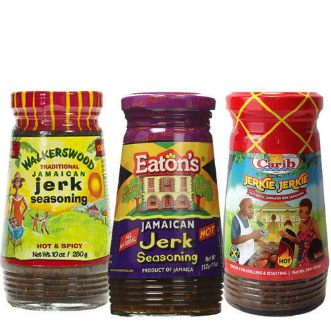Jamaican HOT JERK Seasoning 3-Brand Variety Pack 1