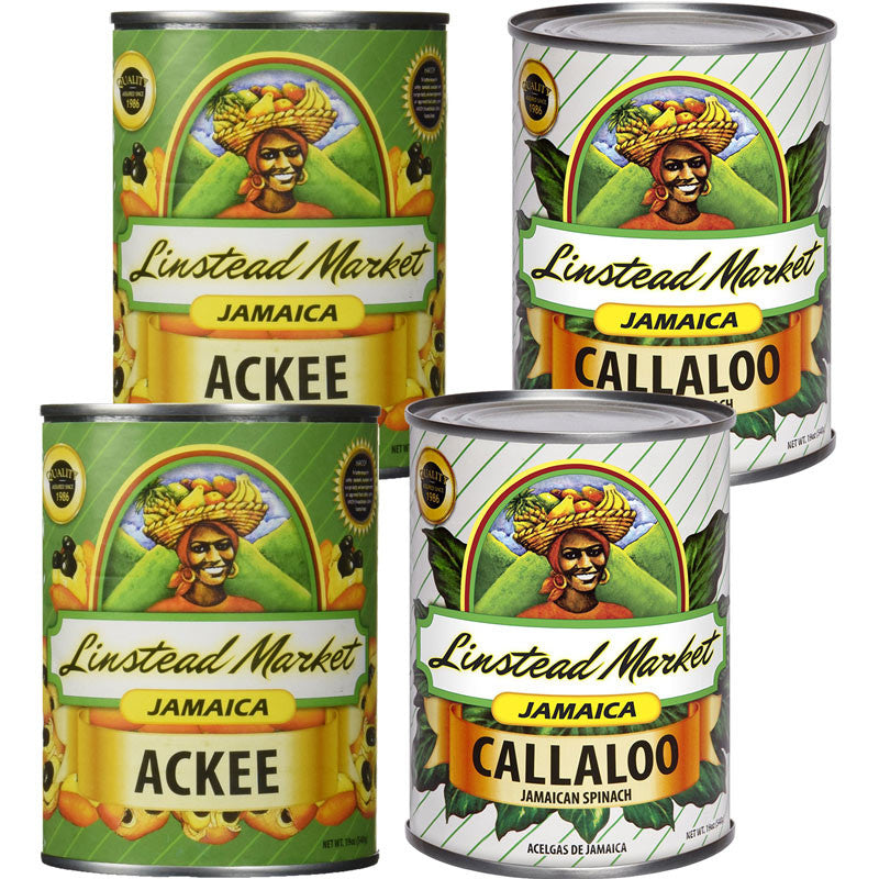 Linstead Market Jamaica Ackee and Callaloo 19oz 4-Pack