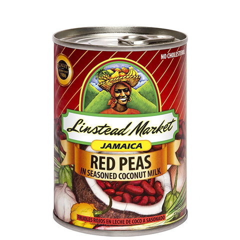 Linstead Market Jamaica Red Peas (Kidney Beans) in Seasoned Coconut Milk 13oz
