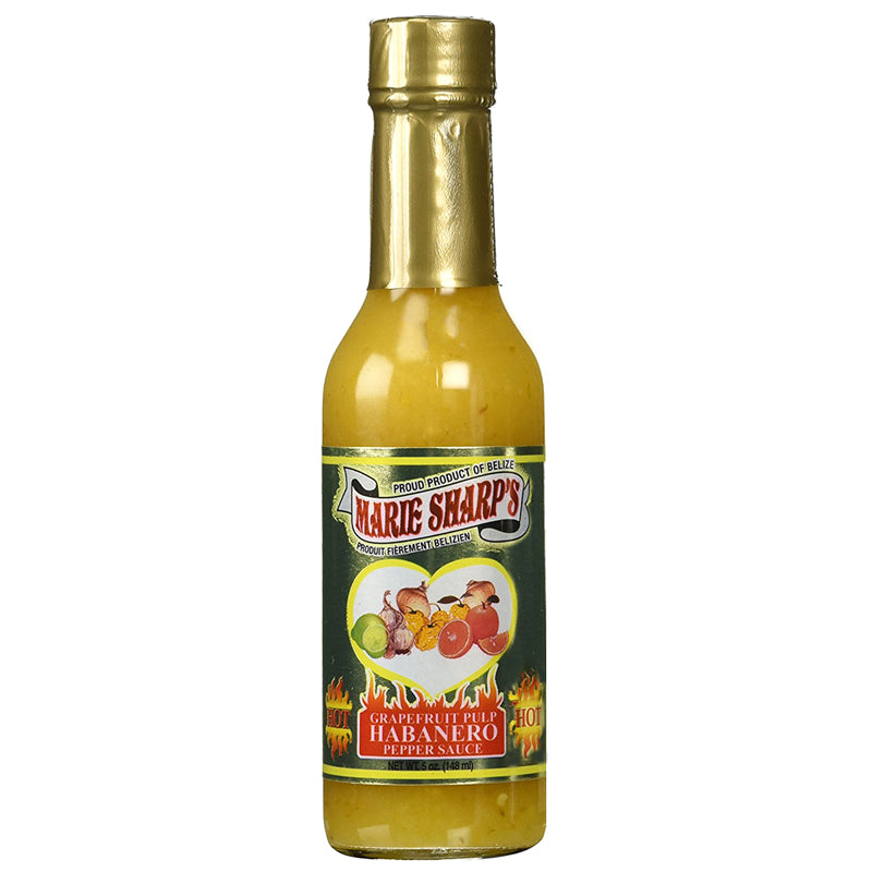 Marie Sharp's GRAPEFRUIT PULP Habanero Pepper Sauce 5oz