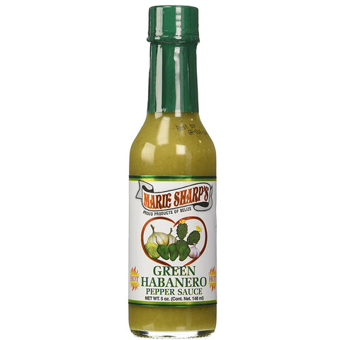 Marie Sharp's GREEN Habanero Pepper Sauce 5oz