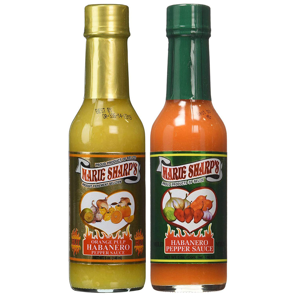 Marie Sharp's Orange Pulp and Mild Habanero Pepper Sauce 5 Ounce (Pack of 2)
