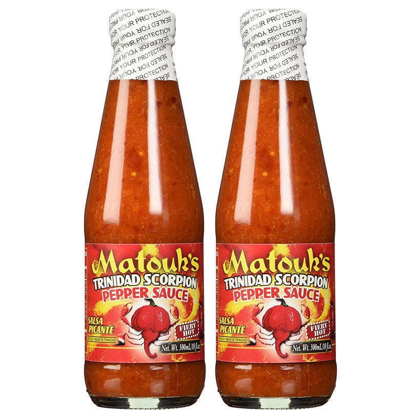 Matouk's Trinidad Scorpion Pepper Sauce 10oz (2-Pack)