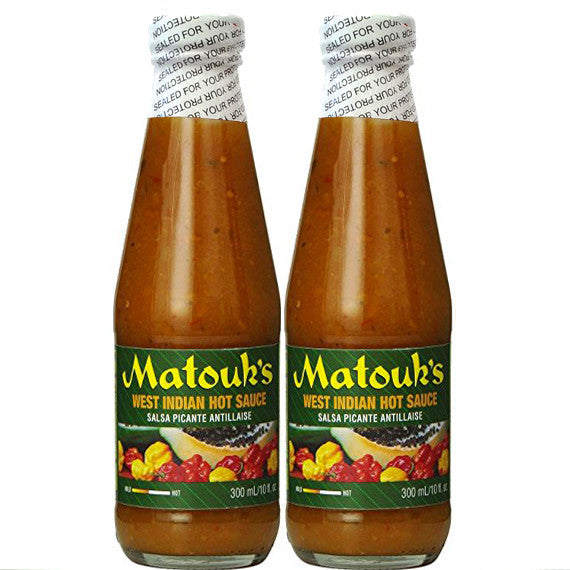 Matouk's West Indian Hot Sauce 10 fl oz (Pack of 2)