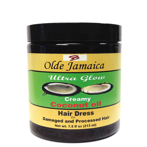 Olde Jamaica Ultra Glow Creamy COCONUT OIL Hair Dress 7.5 oz