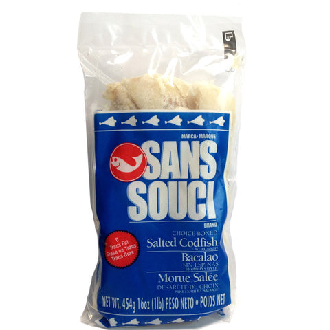 Sans Souci Canadian Salted Codfish 16oz