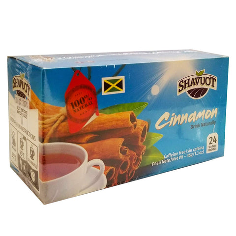 Shavuot (100%) Natural Jamaican Cinnamon Tea Bags 24 Pack
