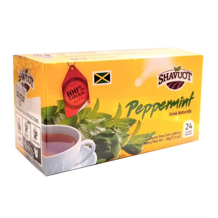 Shavuot 100% Natural Jamaican Peppermint Tea 24 Bags