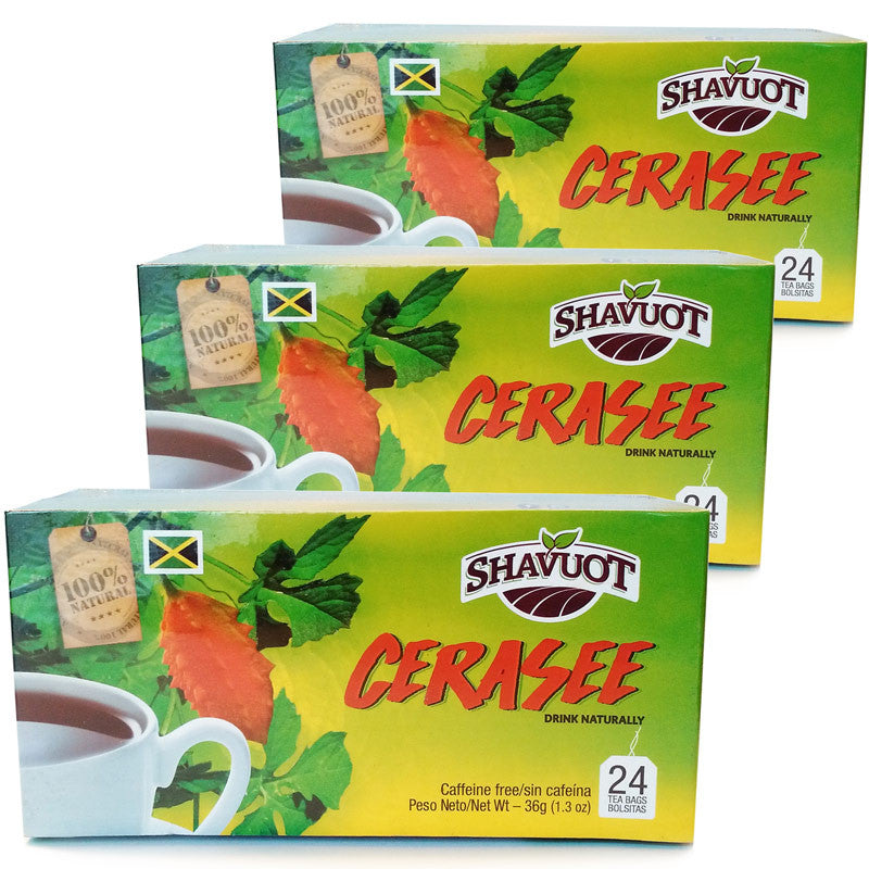 Shavuot Cerasee Tea 24 Tea Bags (Pack of 3)