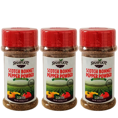 Shavuot Jamaican Scotch Bonnet Pepper Powder 1.3oz (Pack of 3)