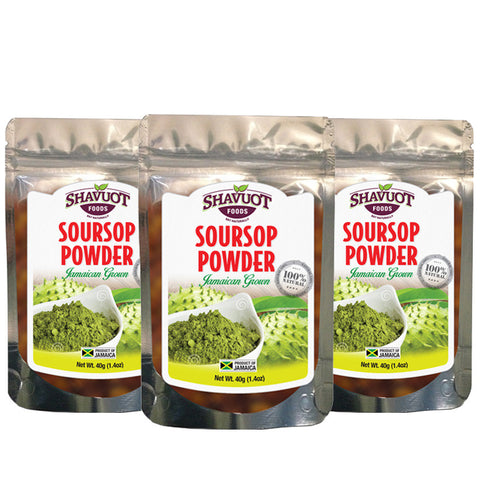 Shavuot Soursop Powder 1.4oz (3-Pack)