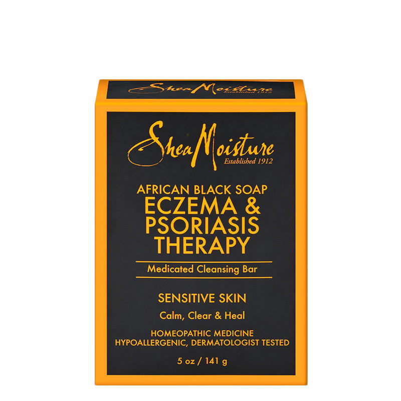 Shea Moisture African Black Soap Eczema & Psoriasis Therapy Medicated Cleansing Bar 5oz