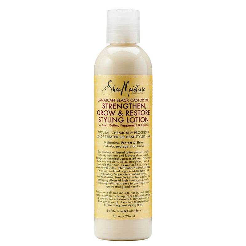 Shea Moisture Jamaican Black Castor Oil Strengthen Grow & Restore Styling Lotion 8oz