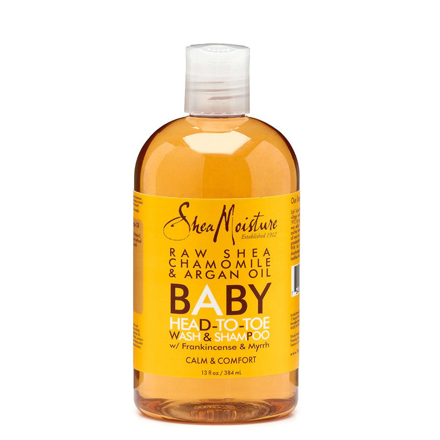 Shea Moisture Raw Shea Butter Chamomile Argan Oil Baby Head-To-Toe Wash and Shampoo 13oz