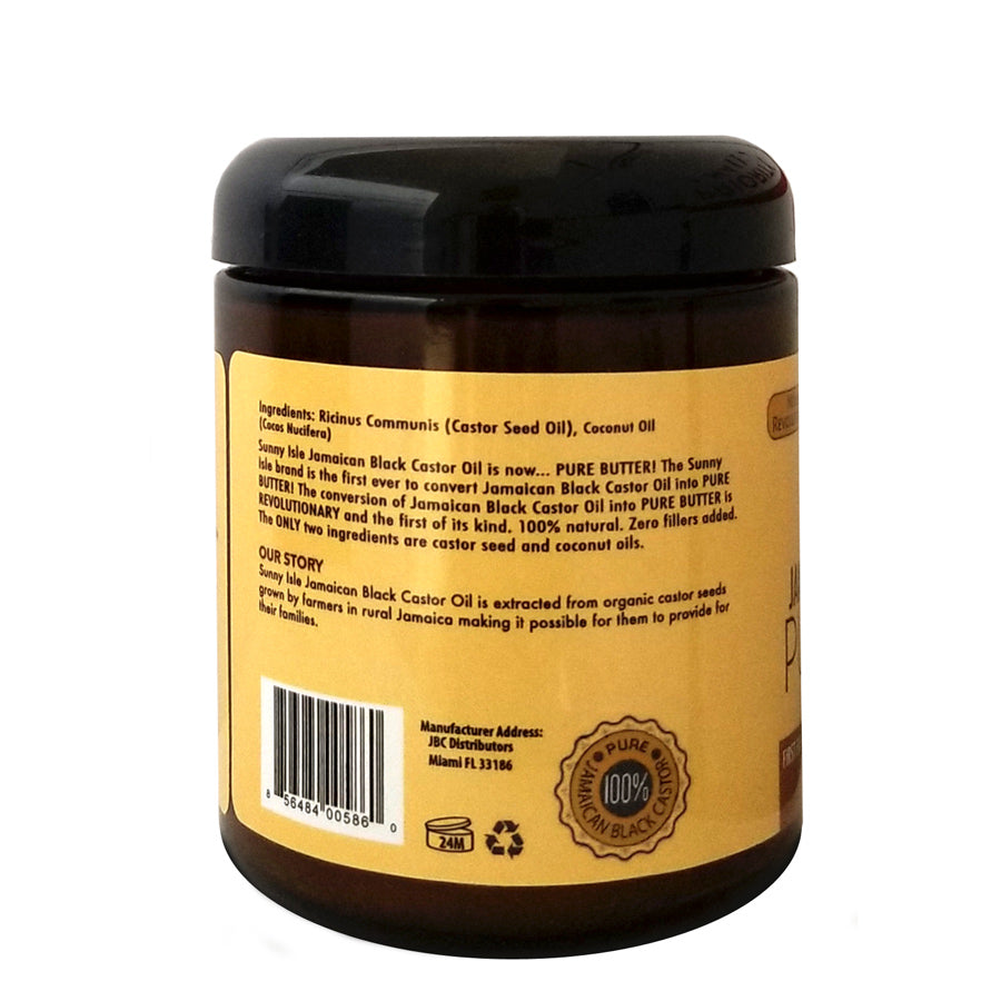 Sunny Isle Jamaican Black Castor Oil Pure Butter With Coconut Oil 8oz Exoticglobalproducts Com