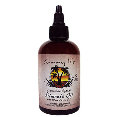 Sunny Isle Jamaican Organic Pimento Oil with Black Castor Oil 4 Oz
