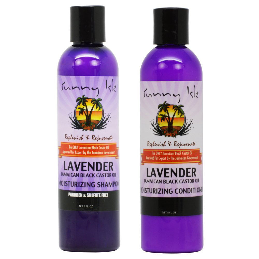 Sunny Isle Lavender Jamaican Black Castor Oil Shampoo and Conditioner Combo