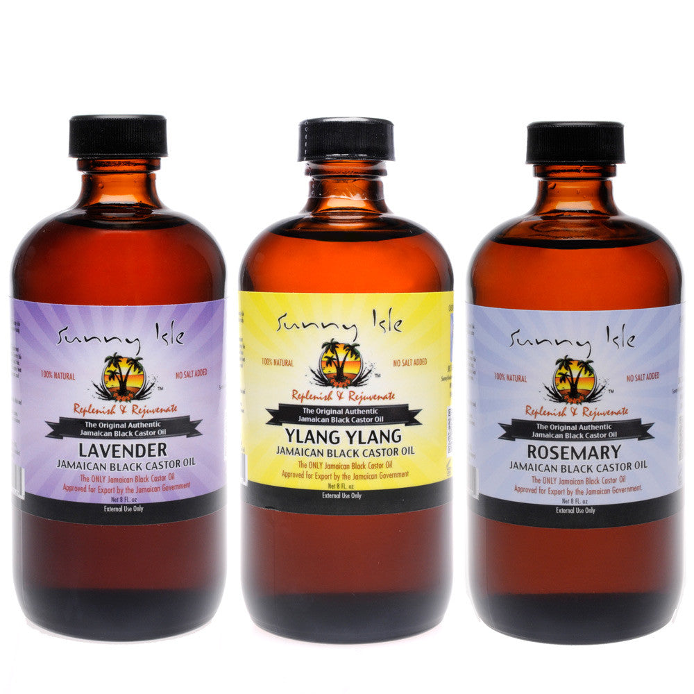 Sunny Isle Scented Jamaican Black Castor Oil 8 Oz 3-Pack