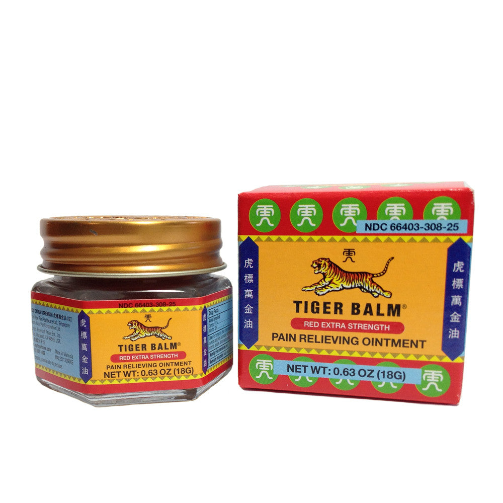 Tiger Balm Red Extra Strength Pain Relieving Ointment 0.63oz (18g)