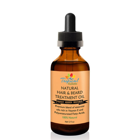 Tropical Holistic NATURAL HAIR & BEARD TREATMENT OIL 2oz