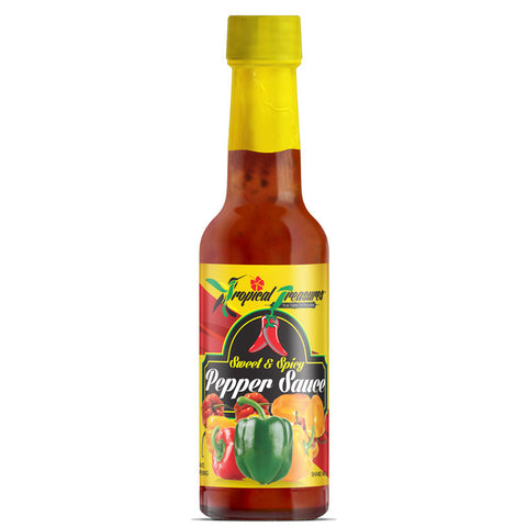 Tropical Treasures Sweet & Spicy Pepper Sauce 4.8oz