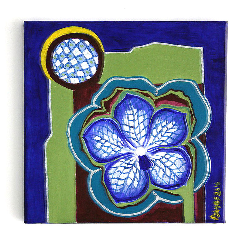 "Vanda  10"" x 10"" Acrylic on stretched canvas"