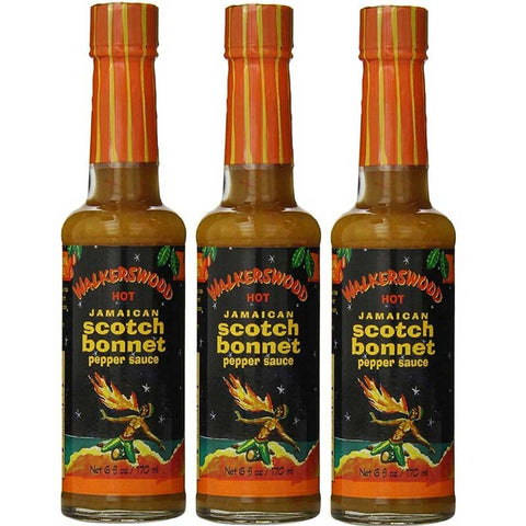 Walkerswood Hot Jamaican Scotch Bonnet Pepper Sauce 6 fl oz (3-Pack)