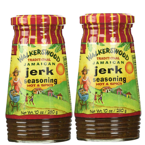 Walkerswood Traditional Jamaican Jerk Seasoning HOT & SPICY 10oz (Pack of 2)