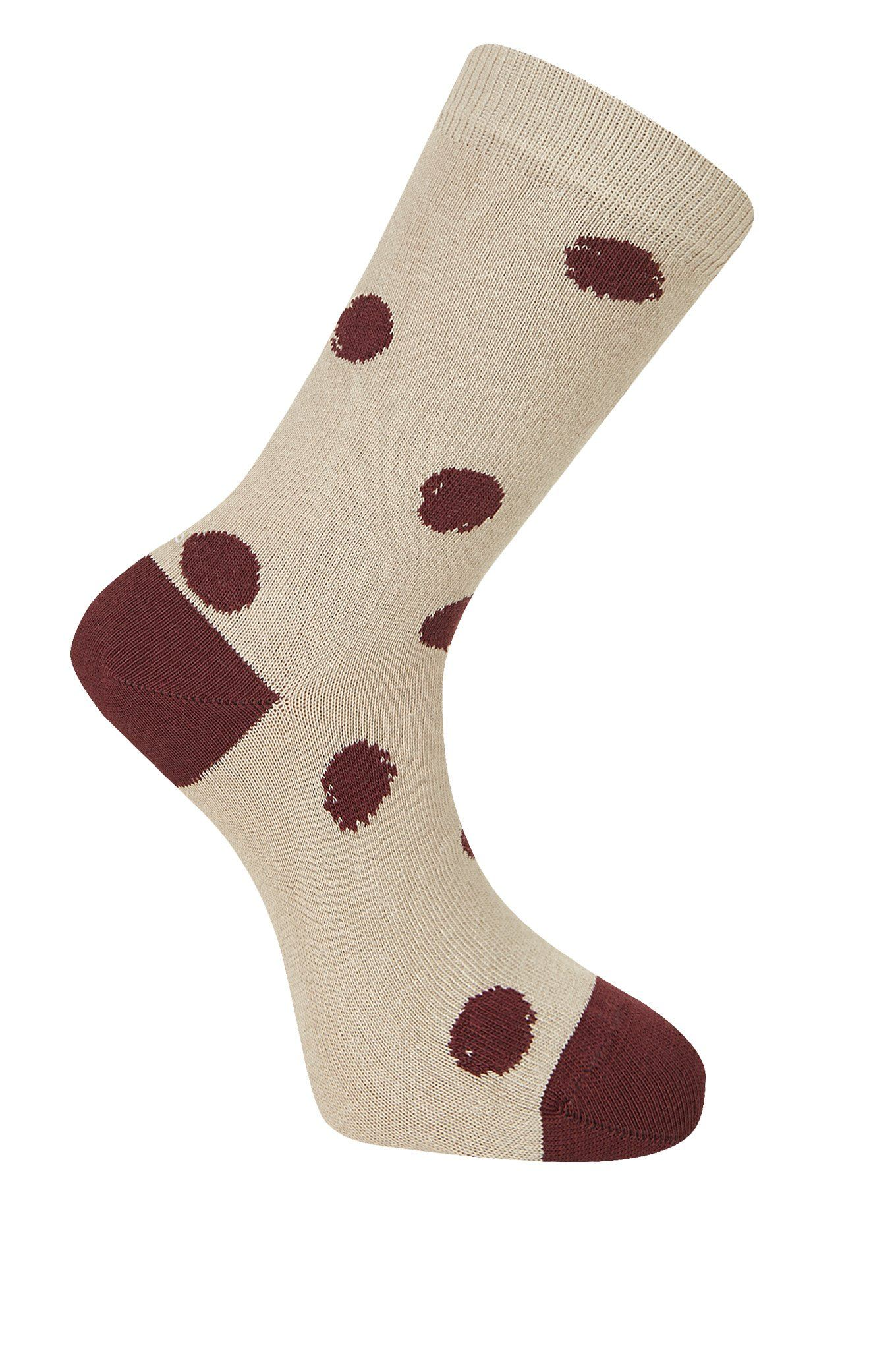 KUSAMA DOT Camel Organic Cotton Socks - Komodo Fashion