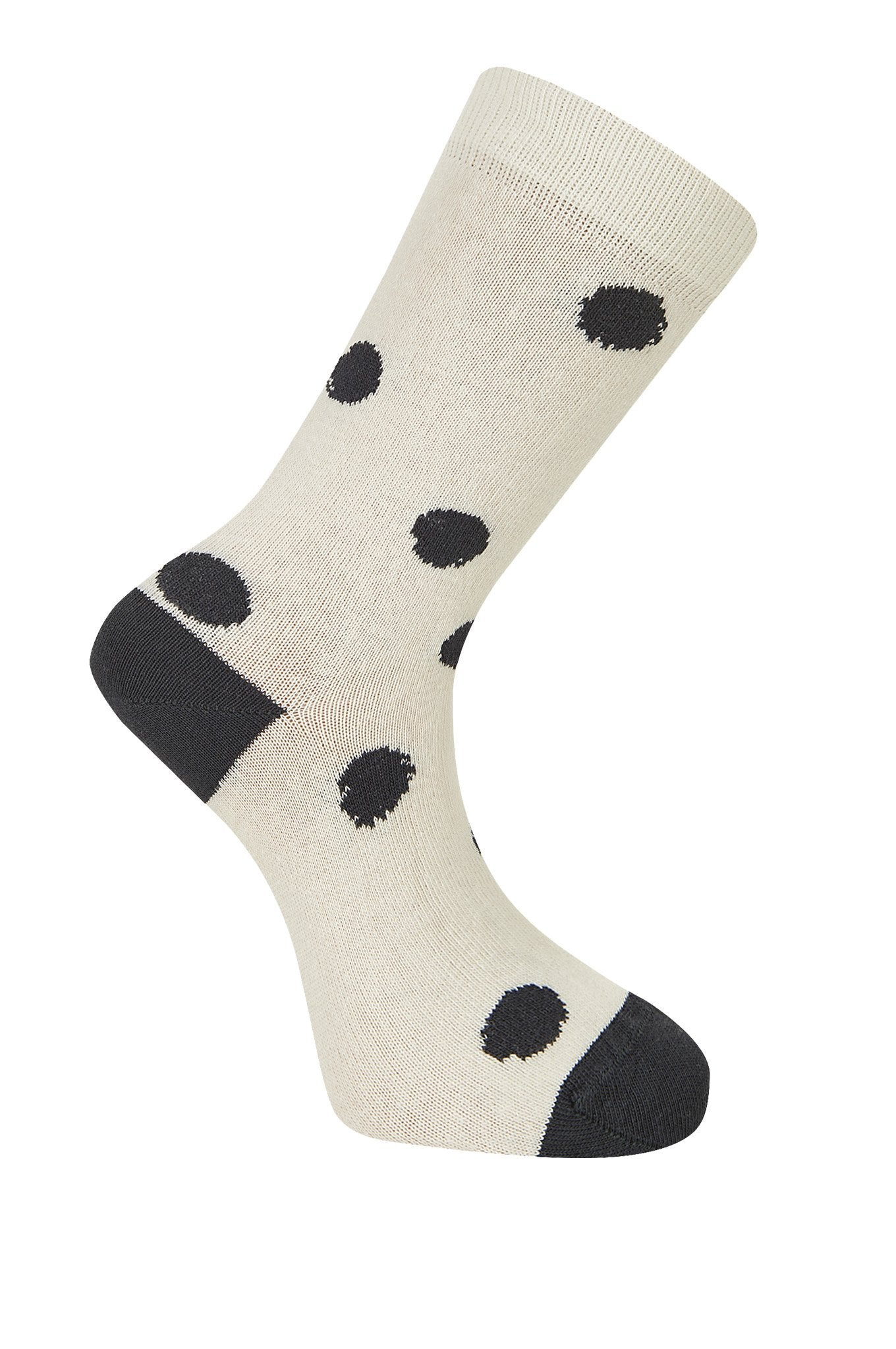 KUSAMA DOT Oatmeal & Coal Organic Cotton Socks - Komodo Fashion