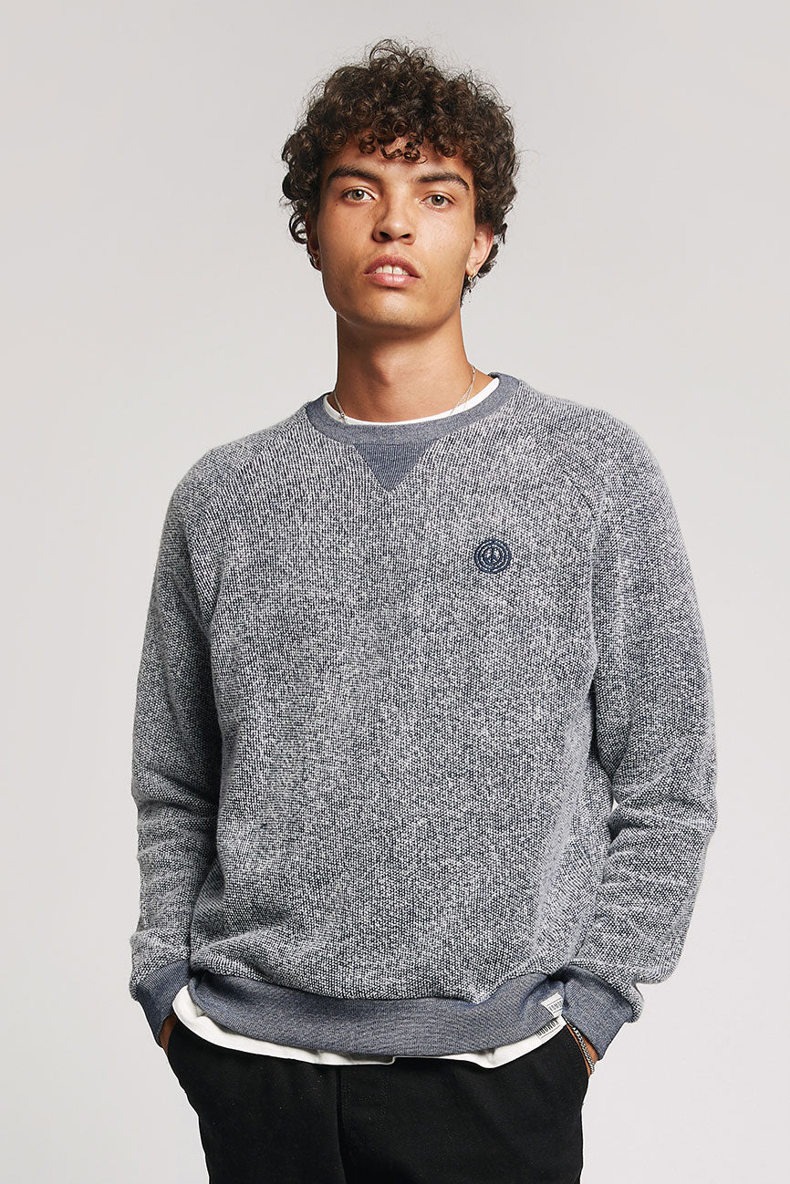 ANTON Organic Cotton Sweat Indigo Melange