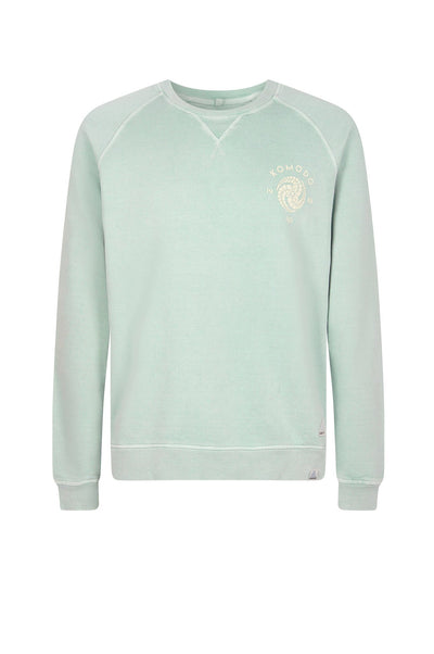 ANTON CREST Organic Cotton Sweat Mineral Blue - Komodo Fashion