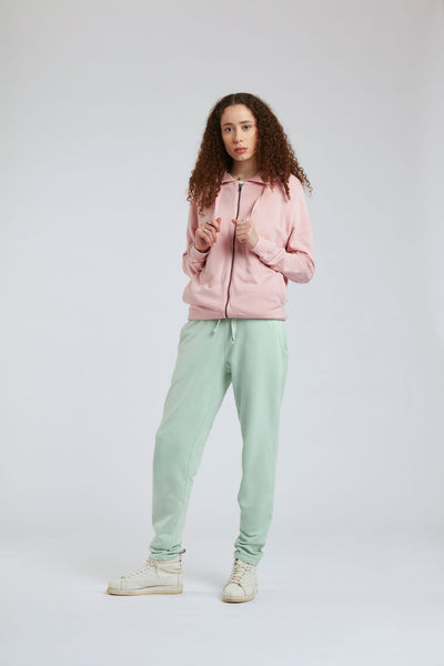 APOLLO Womens - GOTS Organic Cotton Zip Through Salted Grapes