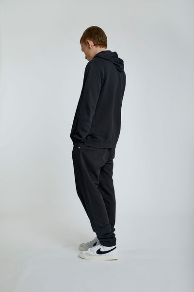 APOLLO Mens - GOTS Organic Cotton Zip Hoodie Black