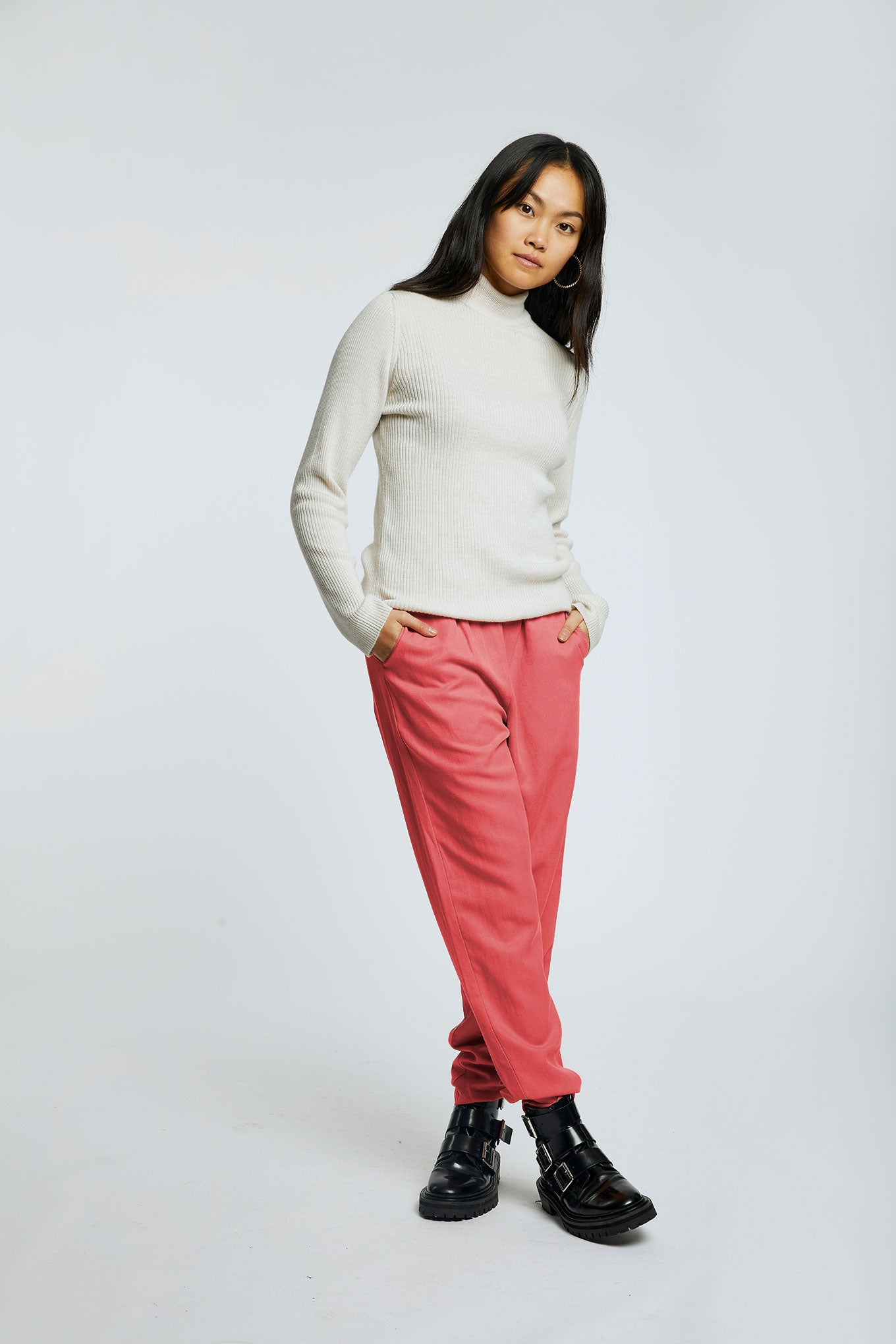 RAMA Tencel Trousers Pepper Red