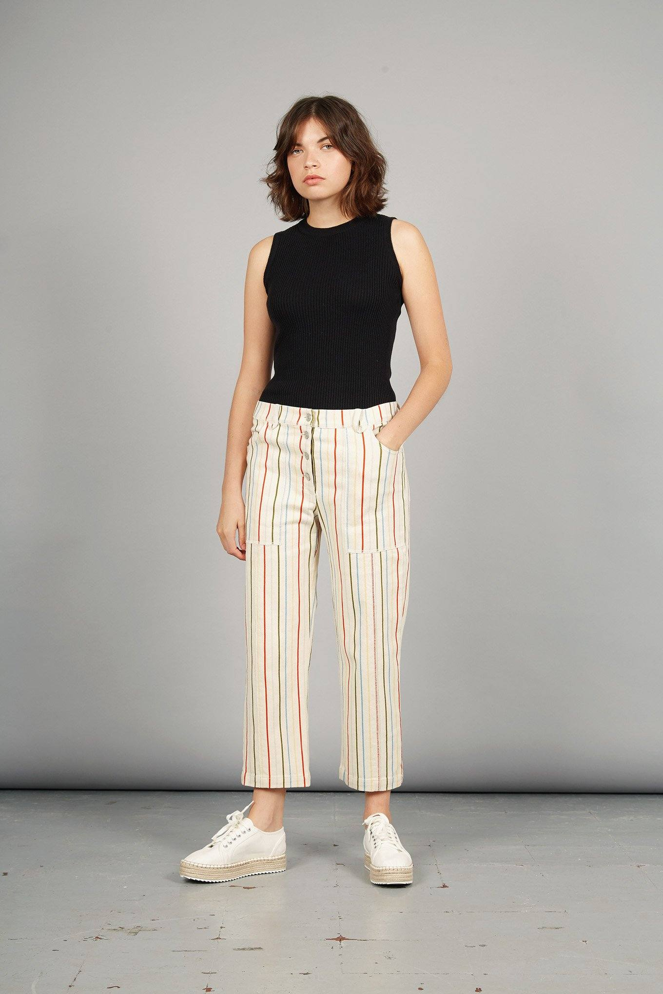 D-SIDE Organic Cotton Jeans Stripes Print - Komodo Fashion