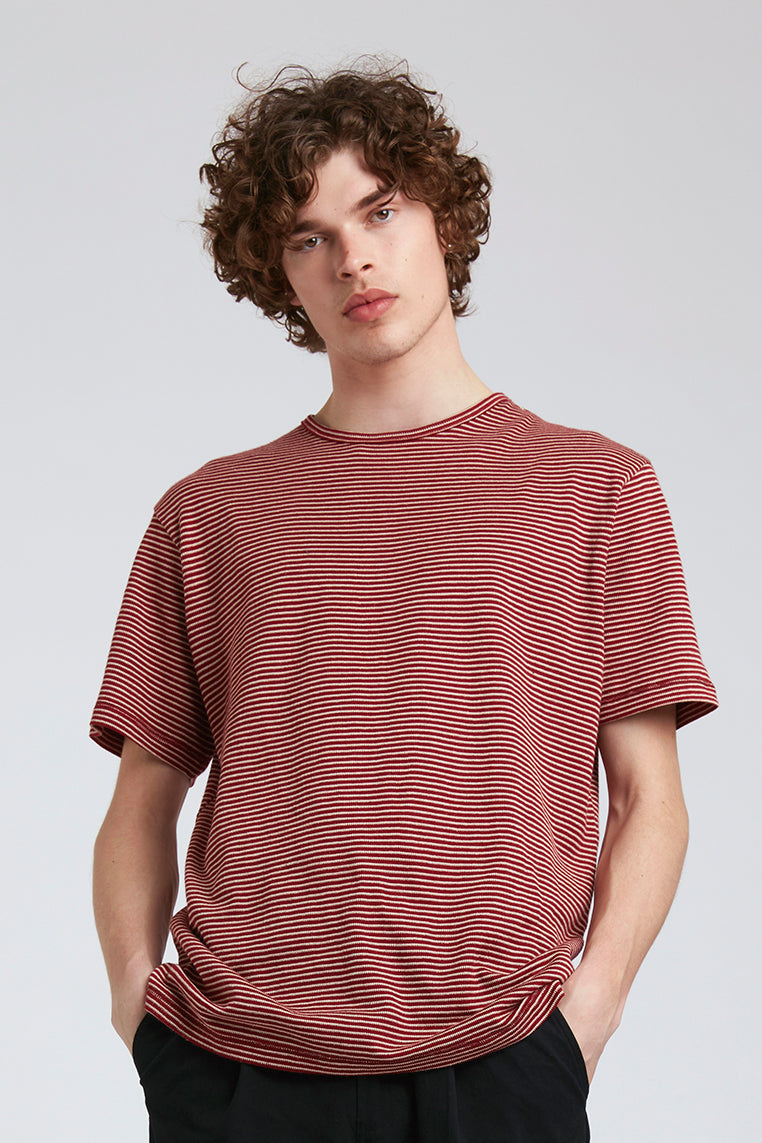 KIN Hemp Tee Red Stripe