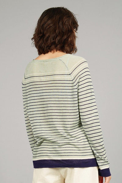 BRETONA Organic Linen Jumper Aloe Green - Komodo Fashion