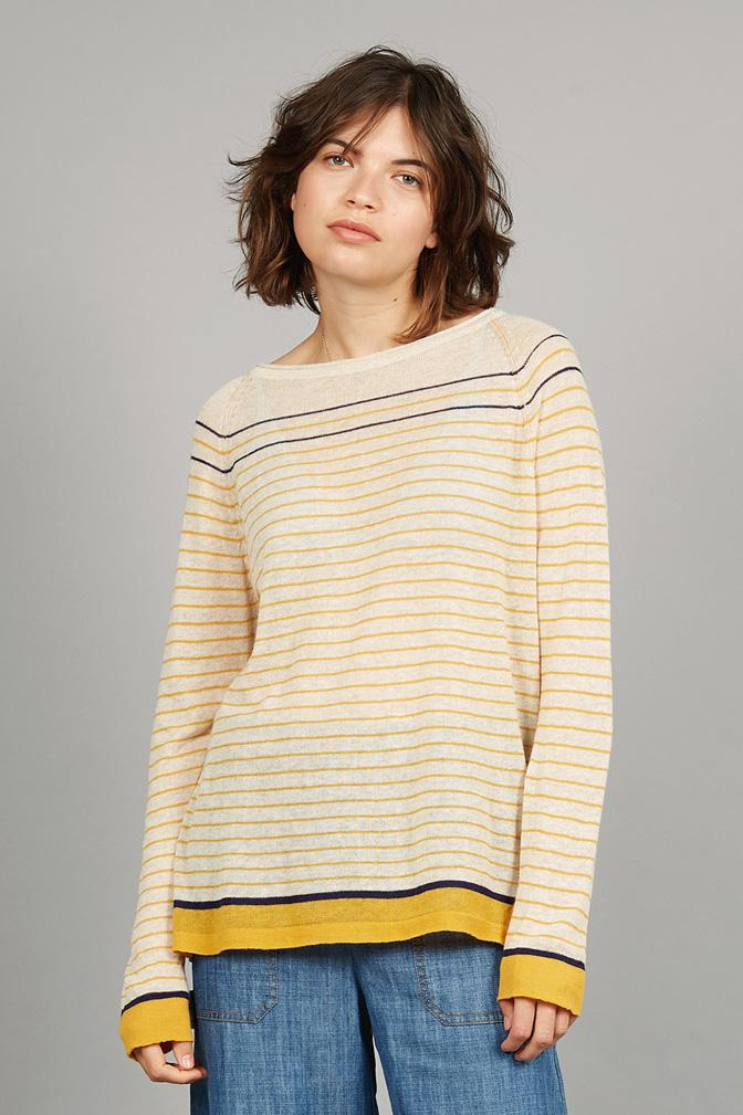 BRETONA Organic Linen Jumper Beach - Komodo Fashion