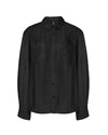 LULE Cupro Shirt Black Coffee