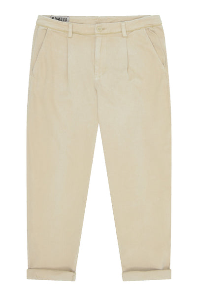 BOWIE - Organic Cotton Trousers Pebble