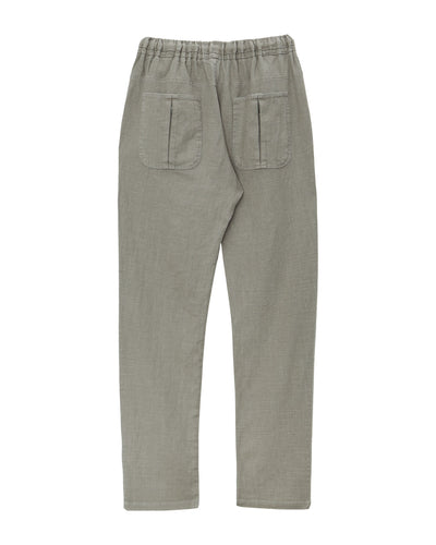 AUGUST Linen Trousers Khaki