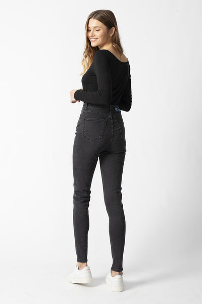 CARRIE dark grey organic cotton Jeans by UCM - Komodo Fashion