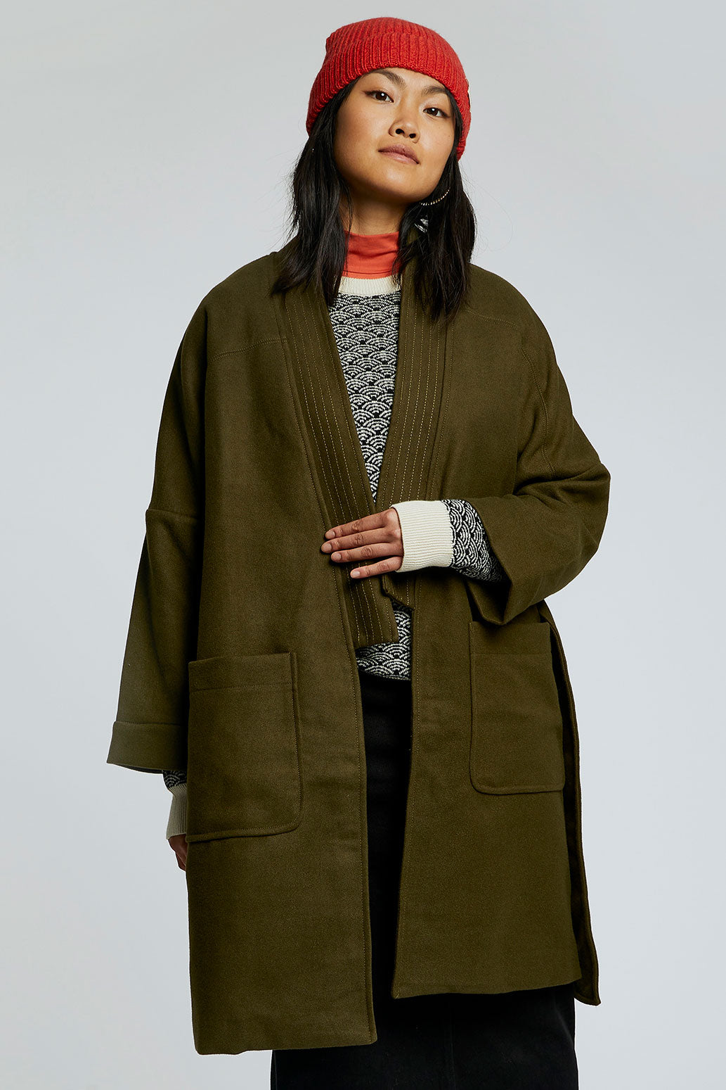 KUNG FU PET WRAP COAT Olive